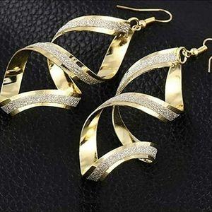 Nwot 2 tone earrings